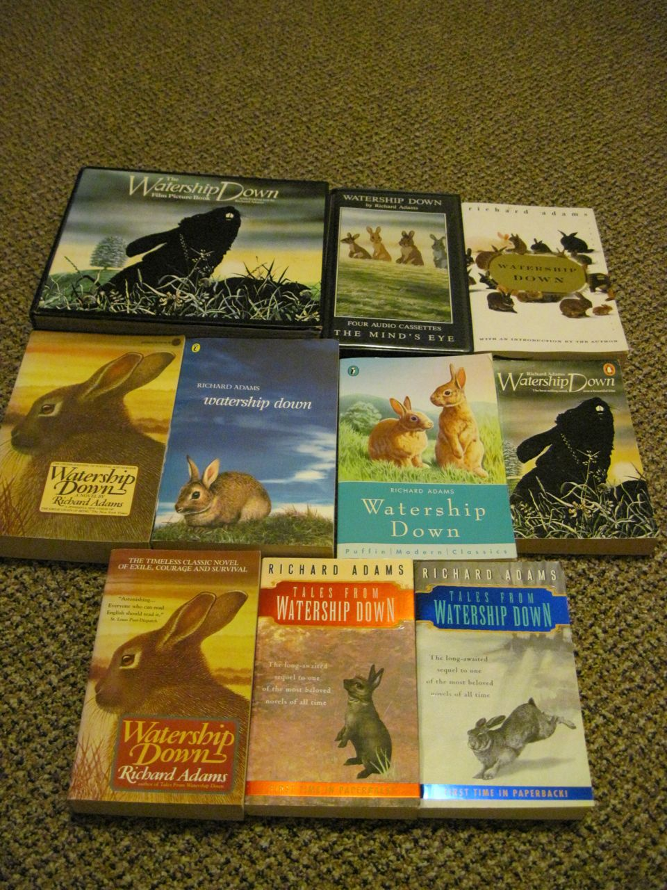 Ten versions of Watership Down.
